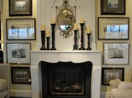 mantel fireplace mantel decor with rustic wood shelf and vase for