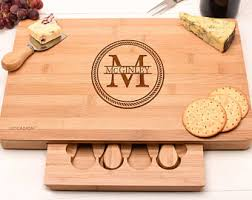 personalized cheese board set cheese board set etsy