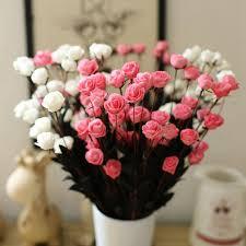 Online Flowers Aliexpress Com Buy Artificial Silk Plastic Flowers Fake Bouquet