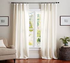 pottery barn belgian flax linen drape available in ivory