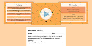 persuasive writing text powerpoint and worksheet persuasive