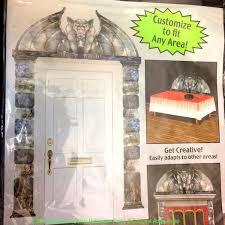 creepy gothic gargoyle door surround scary haunted house scenery