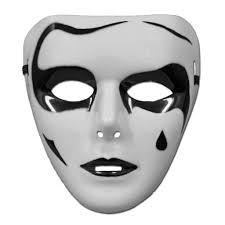 white halloween mask black and white jabbawockeez mask style 6 pvc mask