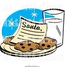 santa cookies and milk clip art 31