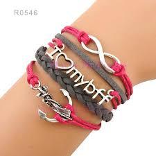 anchor wrap bracelet images Infinity anchor i love my boy friend forever charm wrap bracelets jpg