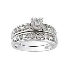 Sterling Silver Wedding Ring Sets by Diamond Accent Bridal Ring Set Sterling Silver Jcpenney