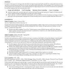 Sample Resume Mental Health Counselor by Stylish Design Ideas Counseling Resume 5 Career Counselor Resume
