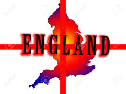 A Map Of England by A Conceptual Image Of The Map Of England Against The English