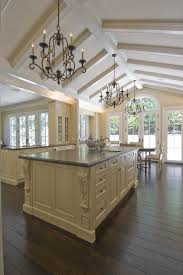 kitchen ceiling beams kitchen traditional with stained floor