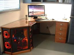Computer Desk Work Station Computer Desk With Tower Storage Nice Wood Desk Workstation With
