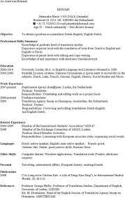 Resume Translator Interpreter Resume Sample Contegri Com