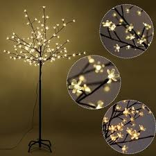 Tree Floor L Costway Cherry Blossom Led Tree Light Floor L