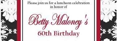 splendid 60th birthday party wording for invitations birthday