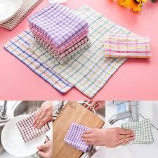 torchons et serviettes cuisine angleterre plaid coton torchon torchons de cuisine anti huile