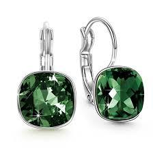 are leverback earrings for pierced ears qianse forest dangle earrings swarovski