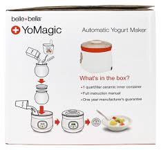 belle bella yomagic automatic yogurt maker 1qt 1xct ebay