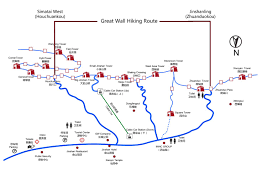 One World Route Map by One Day Great Hiking Tour From Simatai West To Jinshanling