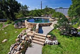 Backyard Landscaping Ideas With Above Ground Pool Above Ground Pool Removal Landscaping Round Designs