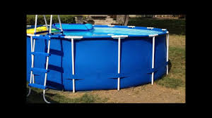Plastic Swimming Pools At Walmart How To Patch And Repair A Leaking Pool Youtube