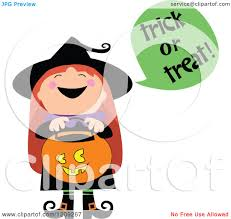 cartoon halloween picture cartoon of a cute halloween witch shouting trick or treat and