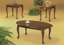 roses flooring and furniture 3pc cherry queen anne coffee u0026 end