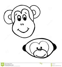 emotions monkey smile stock vector image 64200977
