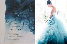 dip dye wedding dress indigo blue dip dye shibori wedding inspiration shibori pantone