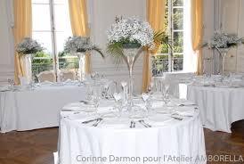 centre table mariage centre table mandres les roses gypsophile blanc fleuriste mariage