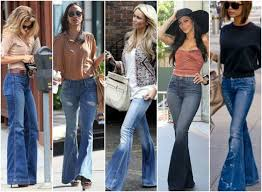 High Waist Bell Bottom Jeans Bell Bottom Jeans Style Jeans To