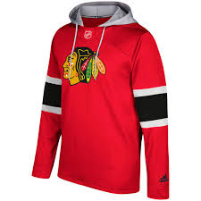 adidas hoodie chicago blackhawks red silver jersey pullover hoodie