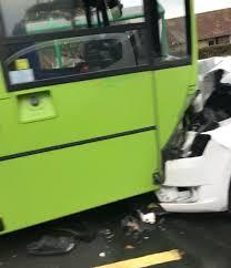car and bus involved in godshill crash isle of wight radio