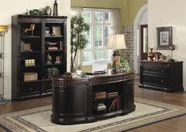 Home Office Bookcase Nicolas 3 Piece Traditional Home Office Executive Set In Two Tone