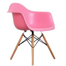 eames inspired coral pink daw style chair eames inspired from