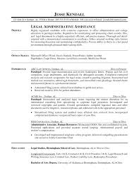 Resume Template For Secretary Objective For Paralegal Resume Templates Legal Assistant Sample