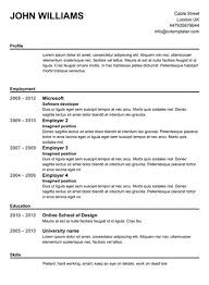 free simple resume template simple resume template medicina bg info