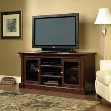 media console with glass doors sauder palladia entertainment credenza for tv u0027s up to 60