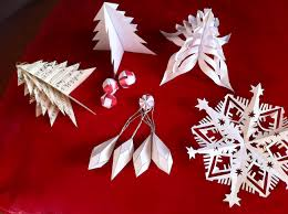paper christmas decorations to make at home simple folding
