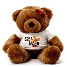 get well soon teddy big brown teddy wearing a get well soon t shirt