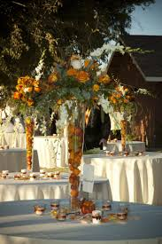 decorating ideas charming wedding table decoration using orange