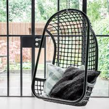 Metal Egg Chair by Indoor Rattan Hanging Egg Chair In White Hanging Chairs Cuckooland