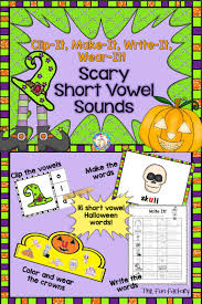 halloween literacy centers u0026 worksheets short vowels short