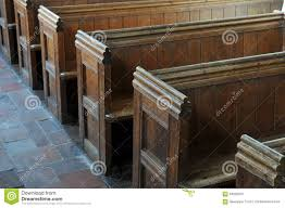 ancient church pews and benches in england stock photo image