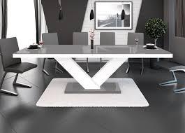 Esszimmer Pinie Gebraucht Esstisch Victoria Tisch Ausziehbar In Super Hochglanz Acryl Weiß