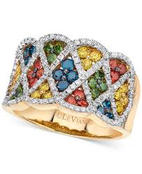 colored diamonds rings images Le vian exotics multi colored diamond ring 1 3 8 ct t w in tif