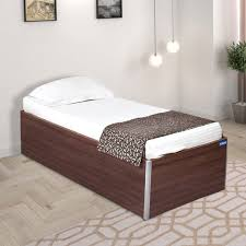 spacewood day engineered wood single bed with storage price in