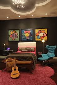 interior design with flowers bedroom cute teenage rooms with upholstered headboards and