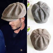 aliexpress com buy autumn winer herringbone tweed newsboy cap
