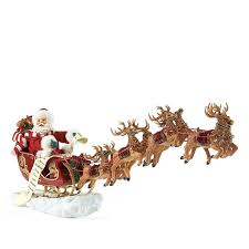 Christmas Decorations Santa Sleigh And Reindeer by Possible Dreams U0027santa U0027s Sleigh