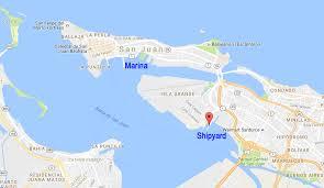 Old San Juan Map Port Caribe San Juan Shipyard And Mega Yacht Marina