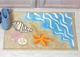 Beach Rug Amazon Com Sea Shell Ocean Beach Bathmat Rug Starfish Sand Dollar